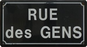 Rue des gens, panneau à Billiers