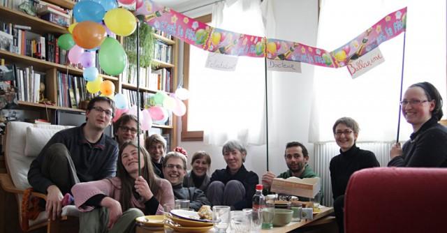 Le Très Honoré Docteur Ballarini, Sonia, François, Élise, Till, Marich, Nolúen, Riwal, Céline et Marie