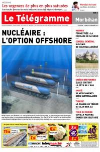 « Le Télégramme », 20 janvier 2011 : « Nucléaire l'option offshore »