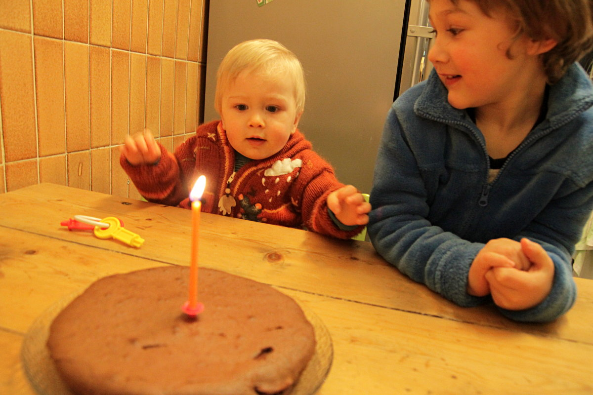 Achille, un an ; Gaspard, quatre ans et demi