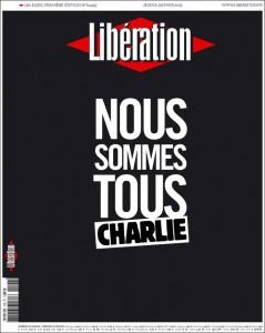 Une de Libération, 8 janvier 2015