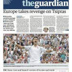 The Guardian - une du lundi 13 juillet 2015